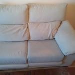 Limpieza sofá crema León
